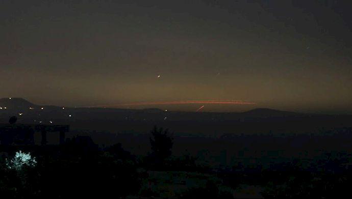 حمله موشکی به پایگاه نظامی اسد در استان حلب سوریه